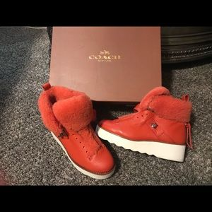 Coach shearling boot and matching Coach crossover